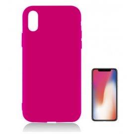 Funda Gel Iphone X Rosa Tpu