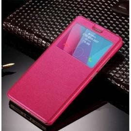 Funda Flip Libro Ventana iPhone X Rosa