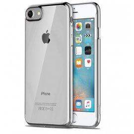 Funda Flexible Iphone 8 Gel con bordes Cromados
