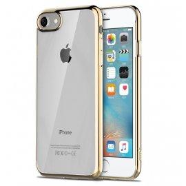 Funda Flexible Iphone 8 Gel con bordes Cromados Oro