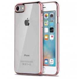 Funda Flexible Iphone 8 Gel con bordes Cromados Rosa