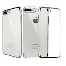 Funda Gel iPhone 8 Plus con Esquinas Plateada
