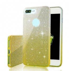 Funda Iphone 8 Plus Diamante Star Dorado
