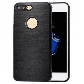 Carcasa iPhone 8 Plus Hybrid AntiGolpes Negra Metal y Gel
