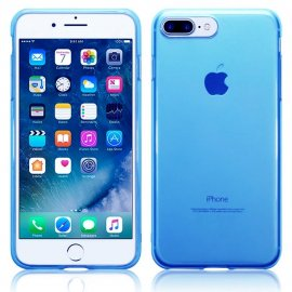 Funda Gel Iphone 7 Plus Gel Azul