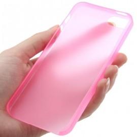 Funda IPhone 5 Gel Mas Fina del Mundo 0.22mm Rosa