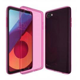 Funda Gel LG Q6 Flexible y lavable Rosa