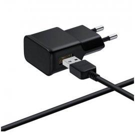 Cargador de red + cable USB a elegir 2000mAh Negro