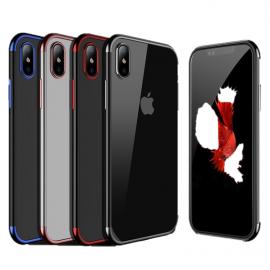 Funda Gel iPhone X con Esquinas Cromados