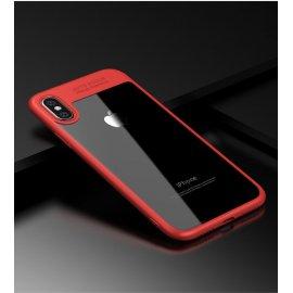 Funda Flexible Iphone X Gel Dual Kawax Rojo
