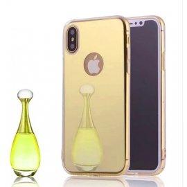 Funda Gel Iphone X Espejo Dorada