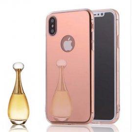 Funda Gel Iphone X Espejo Rosa