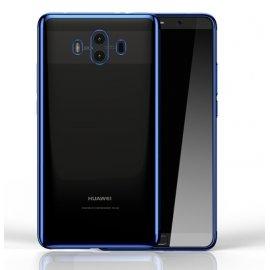 Funda Huawei Mate 10 Gel Transparente con bordes Azul