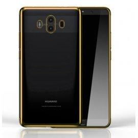 Funda Huawei Mate 10 Gel Transparente con bordes Dorados