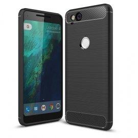 Funda Google Pixel 2 Gel Hybrida Cepillada Negra