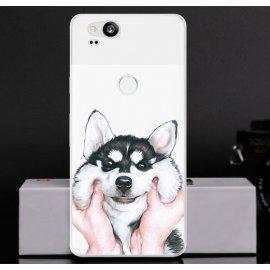 Funda Google Pixel 2 Gel Dibujo Husky