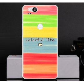 Funda Google Pixel 2 Gel Dibujo Colores