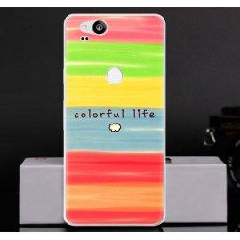 Funda Goolge Pixel 2 Gel Dibujo Colores