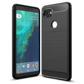 Funda Google Pixel 2 XL Gel Hybrida Cepillada Negra