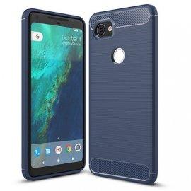 Funda Google Pixel 2 XL Gel Hybrida Cepillada Azul