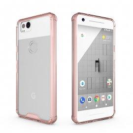 Funda Google Pixel 2 XL Gel Transparente con bordes Rosa