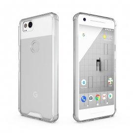 Funda Google Pixel 2 XL Gel Transparente con bordes Gris