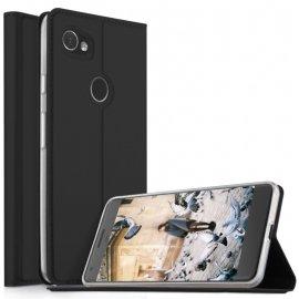 Funda Libro cuero Google Pixel 2 XL Flip Soporte Negra