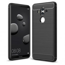 Funda Huawei Mate 10 Pro Gel Hybrida Cepillada Negra