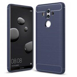 Funda Huawei Mate 10 Pro Gel Hybrida Cepillada Azul
