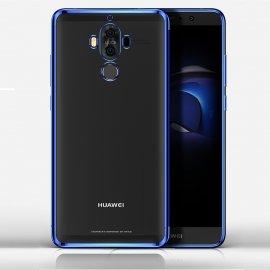 Funda Huawei Mate 10 Pro Gel Transparente con bordes Azul