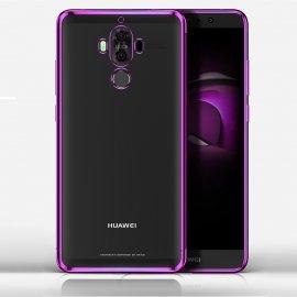 Funda Huawei Mate 10 Pro Gel Transparente con bordes Rosa