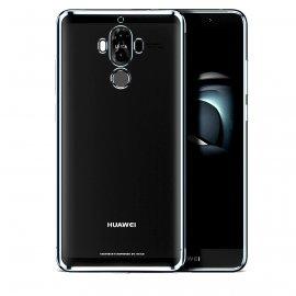 Funda Huawei Mate 10 Pro Gel Transparente con bordes Gris