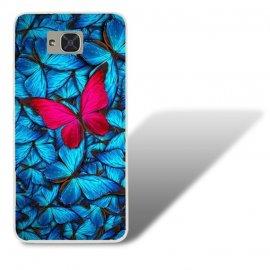 Funda BQ Aquaris U2 Gel Dibujo Mariposa