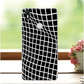 Funda BQ Aquaris X Gel Dibujo Optica Negra