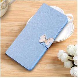 Funda Libro BQ Aquaris U2 Lite Mariposa Azul