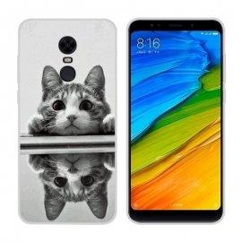 Funda Xiaomi Redmi 5 Plus Gel Dibujo Gatito