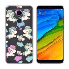 Funda Xiaomi Redmi 5 Plus Gel Dibujo Unicornio