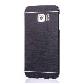Carcasa Galaxy S6 Edge Aluminium Cepillado Negro