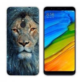Funda Xiaomi Redmi 5 Gel Dibujo Leon