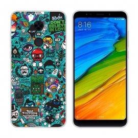 Funda Xiaomi Redmi 5 Gel Dibujo Geek