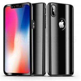 Funda Iphone X Aluminio 360 Completa Negra