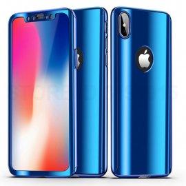 Funda Iphone X Aluminio 360 Completa Azul