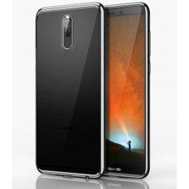 Funda Huawei Mate 10 Gel Lite Transparente con bordes Gris