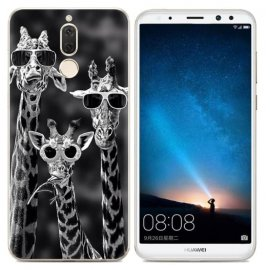 Funda Huawei Mate 10 Lite Gel Dibujo Jirafa