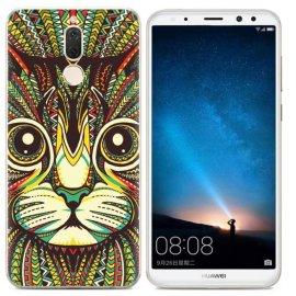 Funda Huawei Mate 10 Lite Gel Dibujo Gato