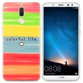 Funda Huawei Mate 10 Lite Gel Dibujo Colores