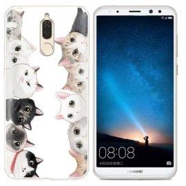 Funda Huawei Mate 10 Lite Gel Dibujo Gatos