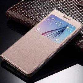 Funda Libro Ventana Huawei Mate 10 Lite Dorada