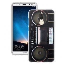 Funda Huawei Mate 10 Lite Gel Dibujo Radio Cassette