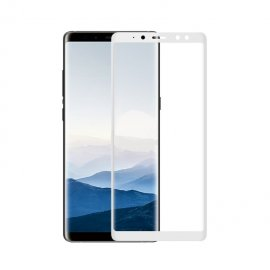 Protector Pantalla Cristal Templado Premium Samsung Galaxy A8 2018 Blanco